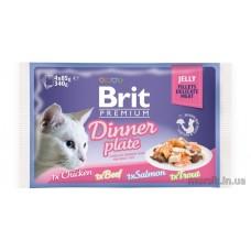 Brit Premium Cat pouch 340 g обеденная тарелка в соусе