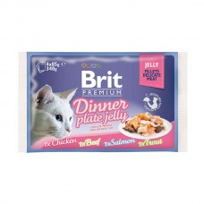 Brit Premium Cat pouch 340 g обеденная тарелка в желе