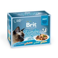 Brit Premium Cat pouch 1020 g семейная тарелка в соусе