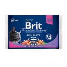 Brit Premium Cat pouch 400 g рыбная тарелка