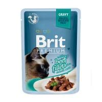 Brit Premium Cat pouch 85 g филе говядины в соусе
