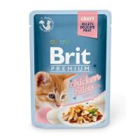 Brit Premium Cat pouch 85 g филе курицы в соусе д/котят