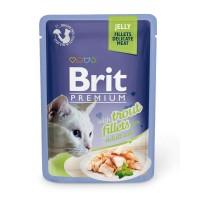 Brit Premium Cat pouch 85 g филе форели в желе
