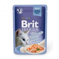 Brit Premium Cat pouch 85 g филе лосося в желе