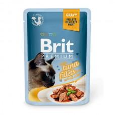 Brit Premium Cat pouch 85 g филе тунца в соусе