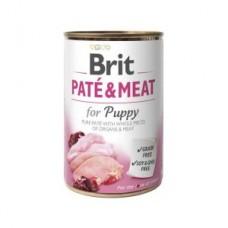 Brit Paté & Meat Puppy 400 g с курицей