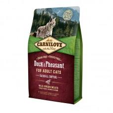 Carnilove Cat Hairball Controll 6 kg утка,фазан (д/выведения шерстяных комочков)