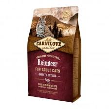 Carnilove Cat Energy & Outdoor 6 kg северный олень (д/активных)
