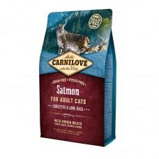 Carnilove Cat Sensitive & Long Hair 6 kg лосось (д/кошек с чувствительным пищеварением)