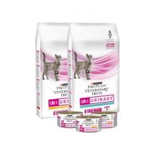 Pro Plan VETERINARY DIETS UR (Urinary - Консервированный корм при мочекаменной болезни у котов), 195гр