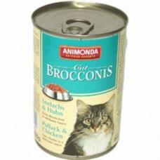 Брокконис консерва для котов 400г сайда-цыпленок