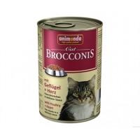 Брокконис консерва для котов 400г птица-сердце