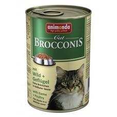Брокконис консерва для котов 400г птица-дичь