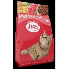 """""""Мяу"""" полнорационный сухой корм для взрослых кошек с мясом 0,9 кг"""