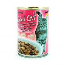 Edel Cat 400гр индейка печень