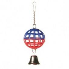 Мяч пластмасс с колокол 7см 5250
