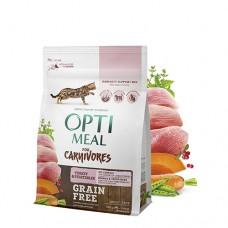 Optimeal сухой корм для котов беззерновой с индейкой и овощами, 4кг.