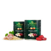 Nuevo for dogs 400 г Junior Chicken & Beef with rice + calcium