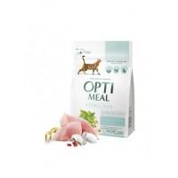 Optimeal сухой корм для стерилизованных котов с индейкой и овсом, 300гр