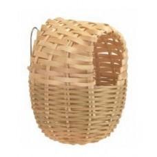 Гнездо для птиц плетеное 12 см