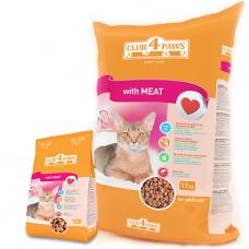 """""""Клуб 4 лапы"""" сухой корм для взрослых кошек с мясом, 11кг"""