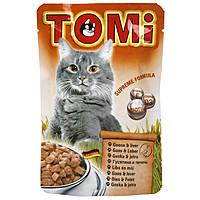 TOMi goose liver ГУСЬ ПЕЧЕНЬ, влажный корм, пауч
