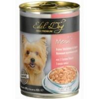 """Edel Dog """"3 вида мяса"""", консервированный корм для собак, 400гр"""
